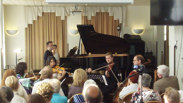 """Luca and Friends"" (as advertised locally) perform Brahms."